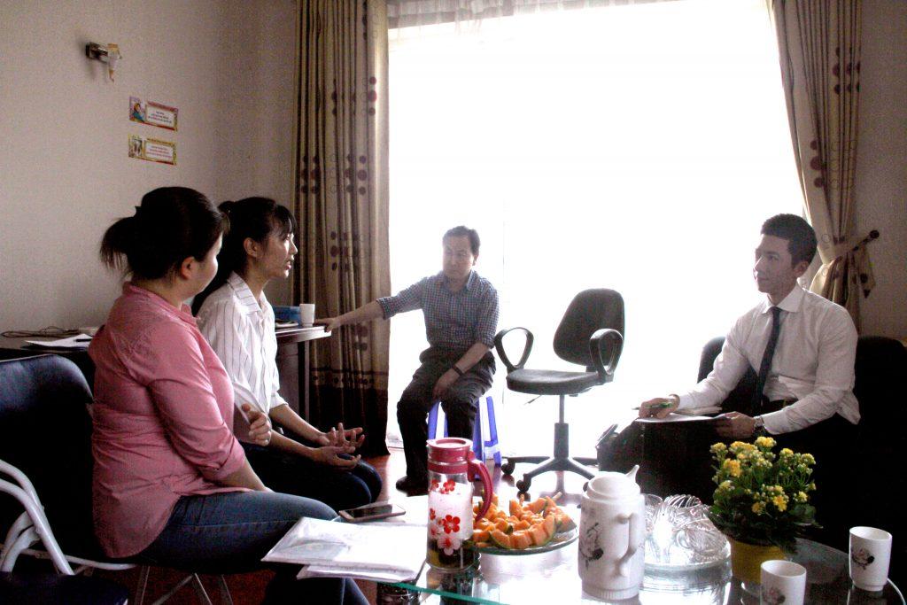 Đại diện trường Đại học PaiChai phỏng vấn học sinh tại Halo
