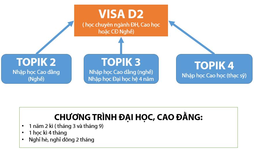 Visa D2 Hàn Quốc là gì? Phân biệt visa d2 và visa d4 Hàn Quốc
