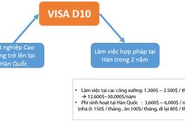 Cơ hội làm việc tại Hàn Quốc với visa D10 Hàn Quốc