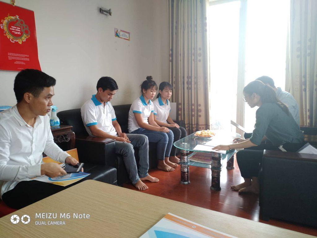 Hình ảnh buổi phỏng vấn với trường Đại học Joongbu