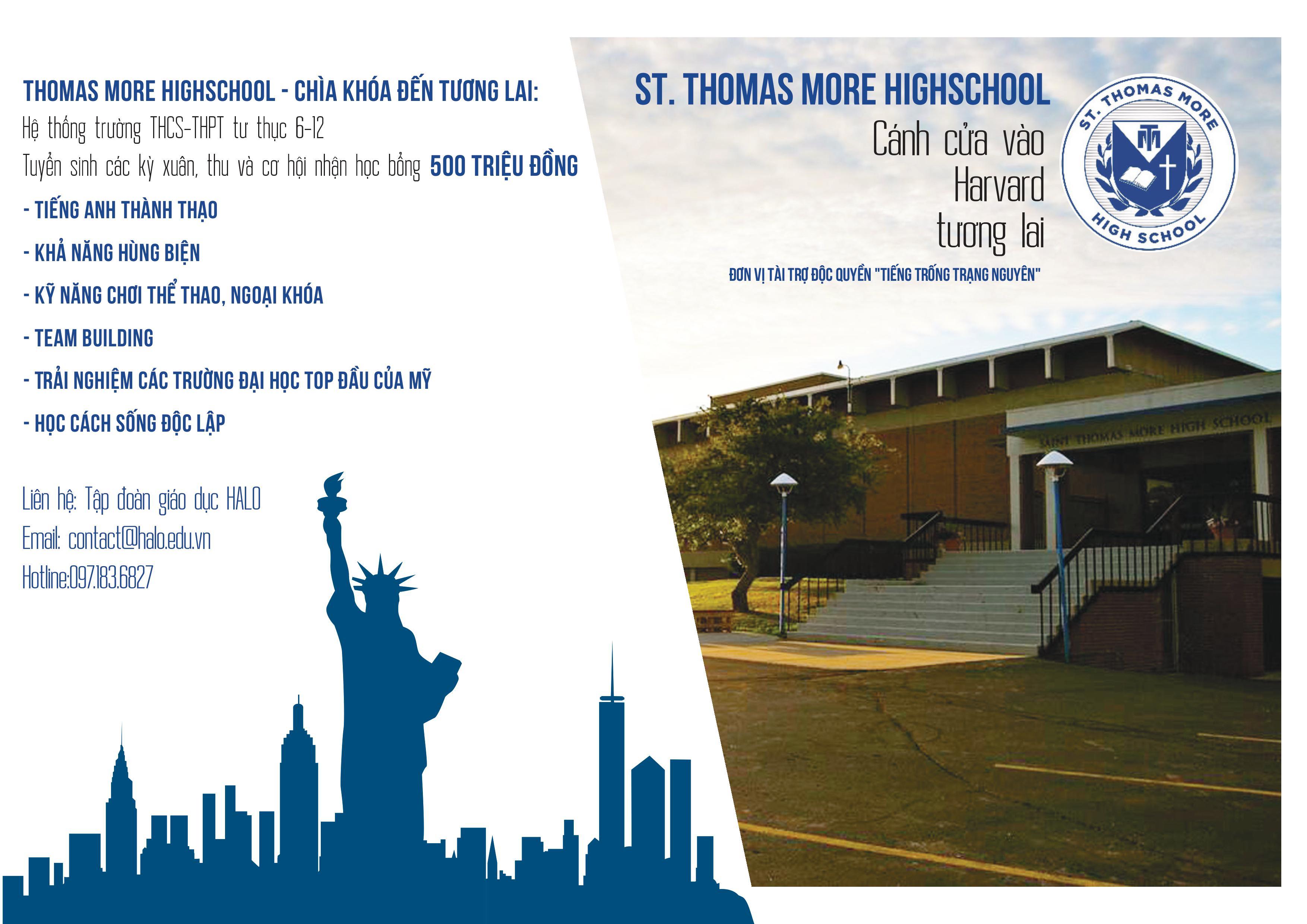 Những lợi ích khi học tại THPT ST. Thomas More High School