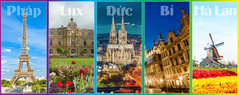 Du lịch Châu Âu: Pháp - Luxembourg - Đức - Bỉ - Hà Lan