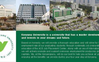 Thông tin mới về Trường Đại học Konyang ở Hàn Quốc Korea.net.vn